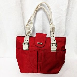 Travelers Club Insulated Red Handbag Tote